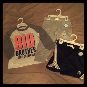 Carter's Boys 2T Shorts & Pants & Shirt